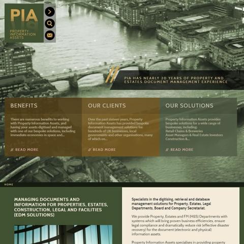 PIA web site screenshot