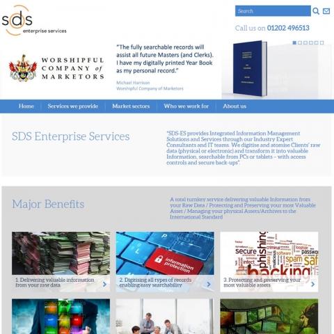 SDS ES web site sceenshot