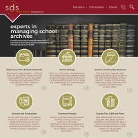 SDS School Records web site screen shot