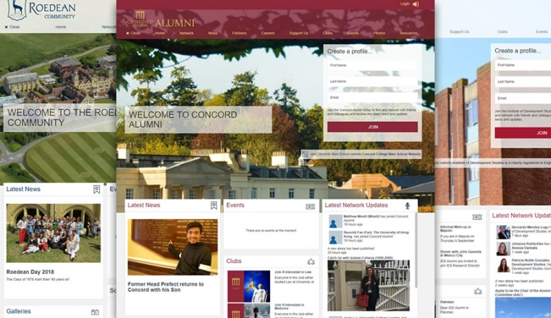 Alumni software banner